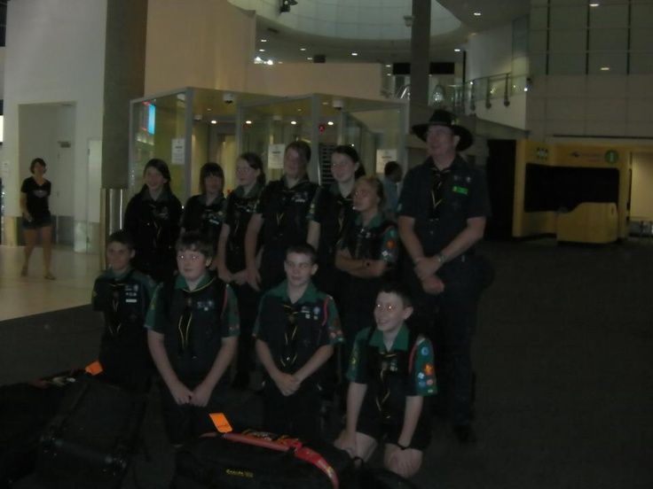 1st Midland Scouts WA B20 at Perth airport 6am this morning