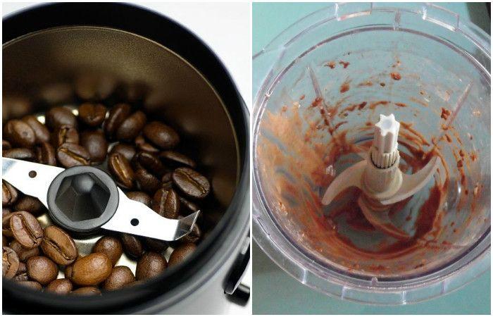 Легчайший способ вычистить кофемолку или кухонный комбайн