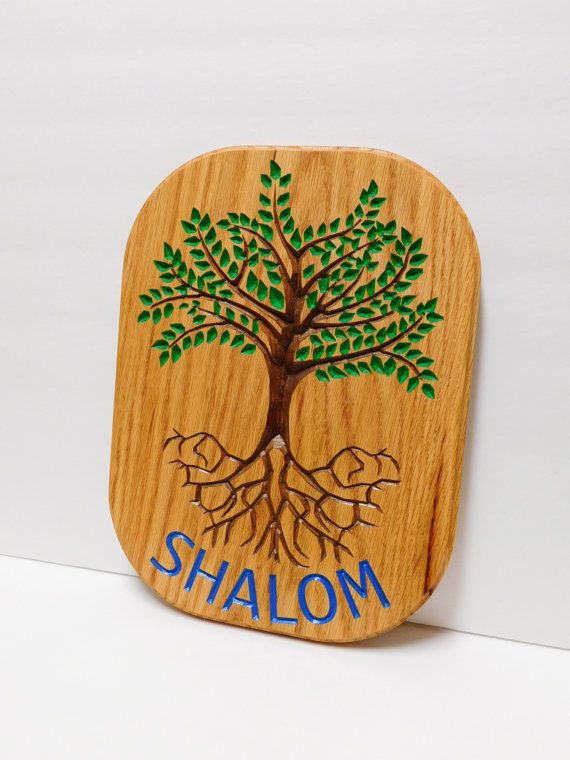 Shalom Tree of Life Sign by CursonContours on Etsy