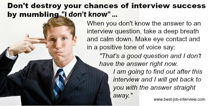 Example answers for interviews tell me something not on
