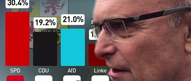 Ministerpräsident Sellering feiert SPD-Erfolg