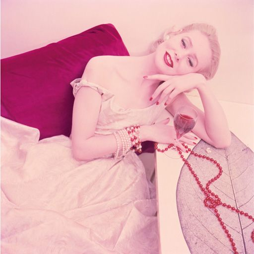 Christian Dior: Ruby and Pearls, 1955Vintage Dior, Henry Clark, Fashion Vintage, Vintage Fashion, Christian Dior, 1955, 1950 S, 1950S Fashion, Vintage Style