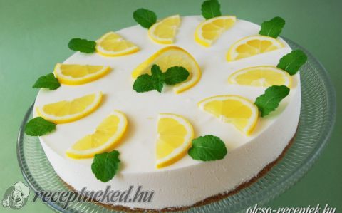 Citromtorta sütés nélkül recept fotóval