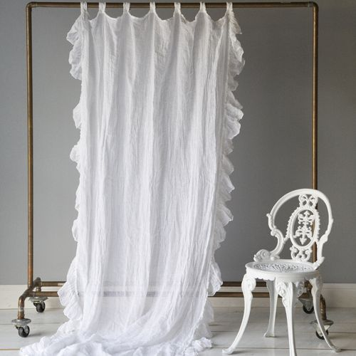 Linen Whisper Curtain Panel in Choice of Color from PoshTots