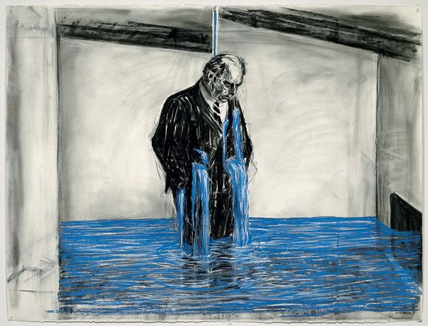 William Kentridge, 11DrawingfromStereoscope... part of a video