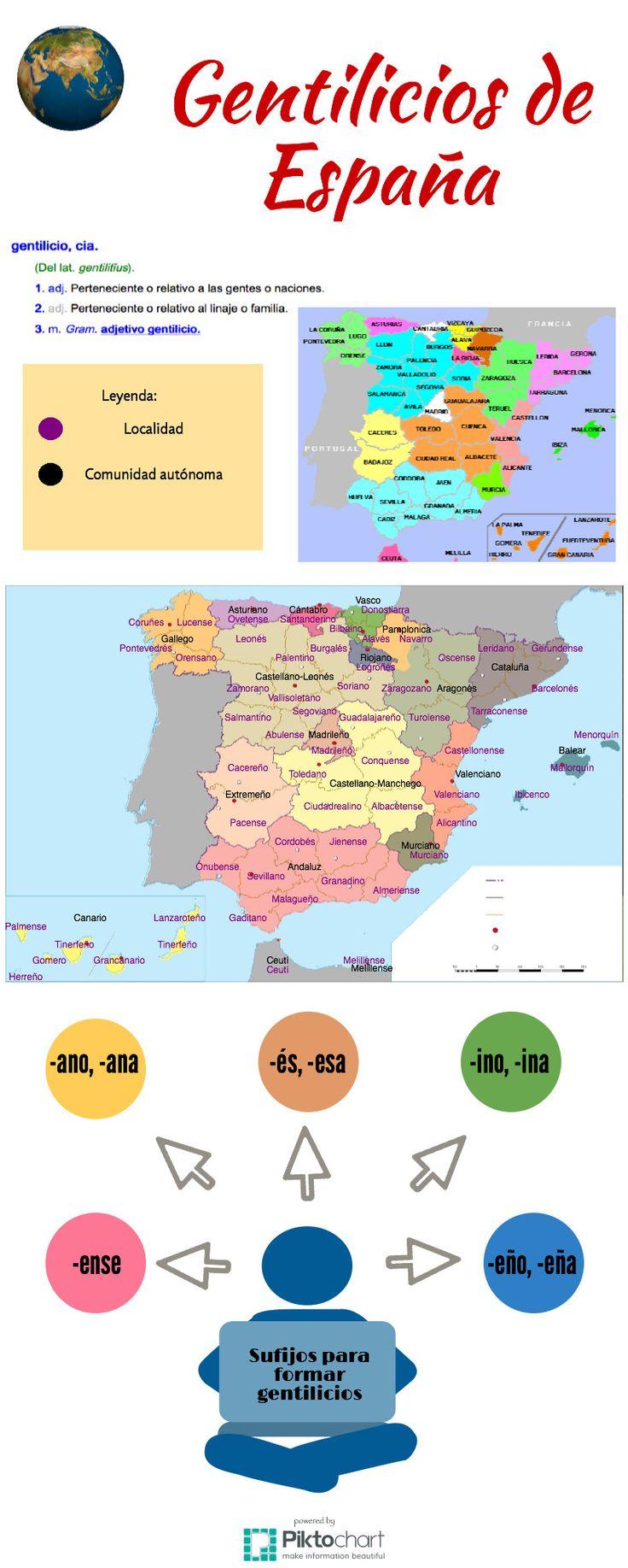 Gentilicios de España, por Clara Cordero, @agorabierta