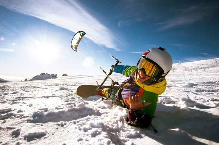 Glide over incredible snowscapes by way of snowkiting. | 12 Things Other Than Skiing You Can Do In Canada This Winter