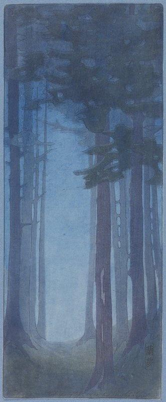 Pines, Bertha Boynton Lum, 1912, Color woodcut