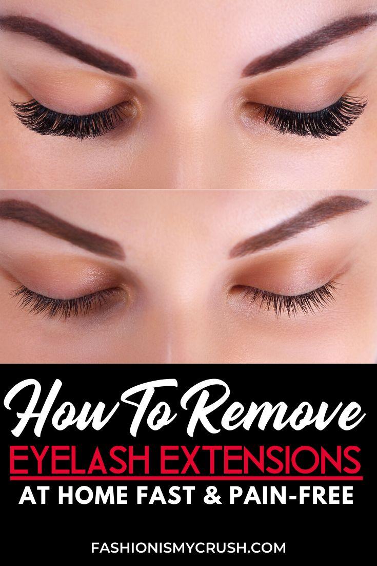 How to remove eyelash extensions at home eyelash