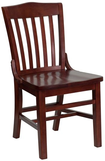 Commercial Wood Chair: School House Back Mahogany · Restaurant ChairsWoods  ...