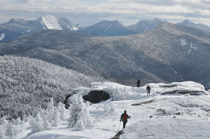 Summit of Cascade Mountain, one of the Adirondack High Peaks.