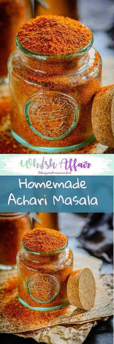 Achari Masala is a mix of Indian spices which is used to pickle variety of ingredients. This masala can be used to flavor various curries and starters. Make this amazing homemade version and add it in your regular food and see how it takes the taste to next level. #SpiceMix #Indian #Homemade via @WhiskAffair