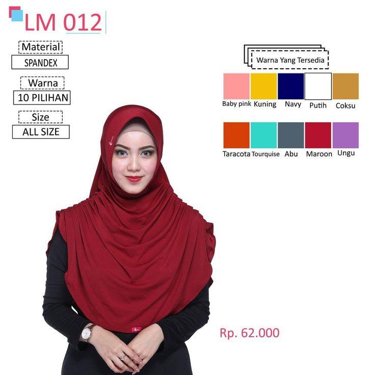LM 012 Lamia Hijab - Kerudung Bergo Syar'i bahan kualitas premium, nyaman dipakai dan anti gerah. Material : Spandex. Size : All Size. #lamiahijab #hijabindonesia #kerudunginstan #bergo