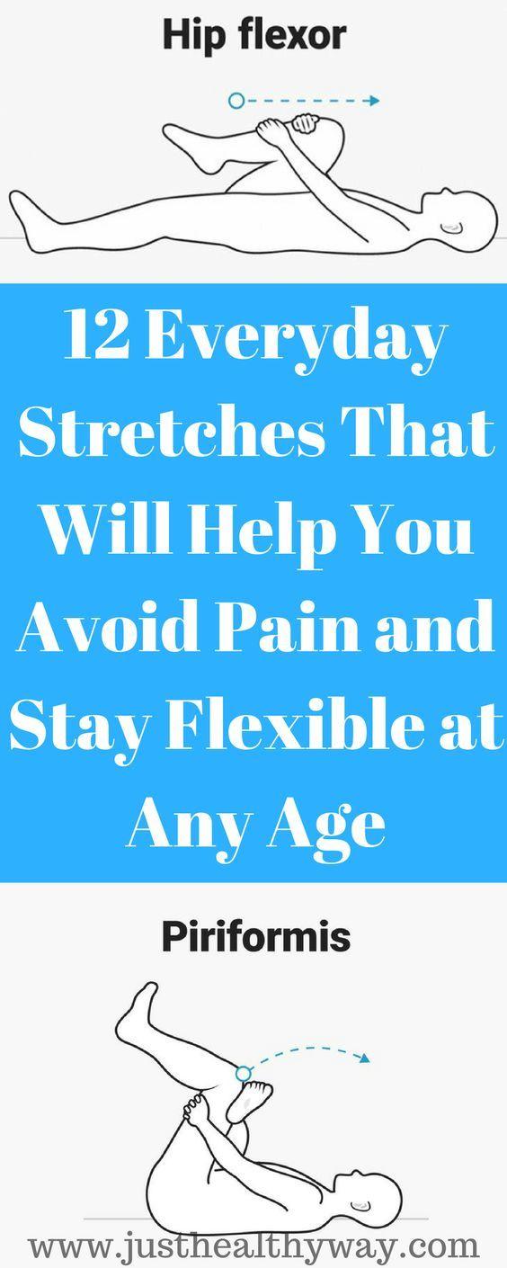 12 tägliche Strecken, die Ihnen helfen, Schmerzen zu vermeiden und in jedem Alter flexibel zu bleiben