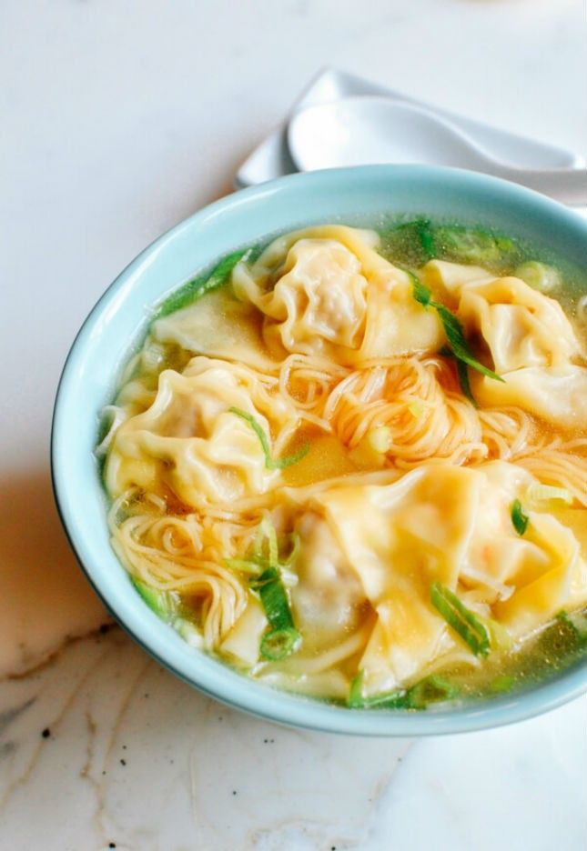 Warm up with a bowl of homemade Cantonese Wonton Noodle Soup with this easy recipe.