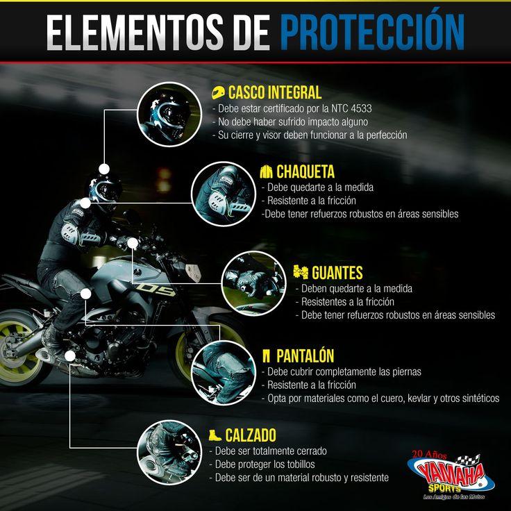 Recuerda que, sin importar la motocicleta que conduzcas, es indispensable que protejas todas las partes sensibles de tu cuerpo. Los objetos y accesorios son reemplazables, las partes de tu cuerpo no. #SeguridadVial #YamahaSports #LosAmigosDeLasMotos