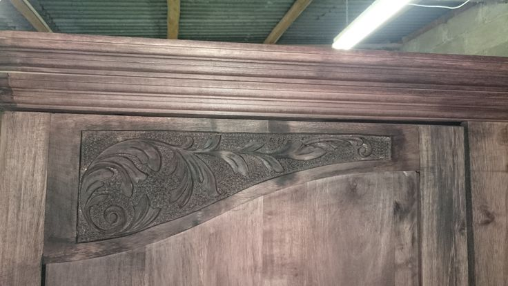 Beautiful hand carving detail for a cupboard