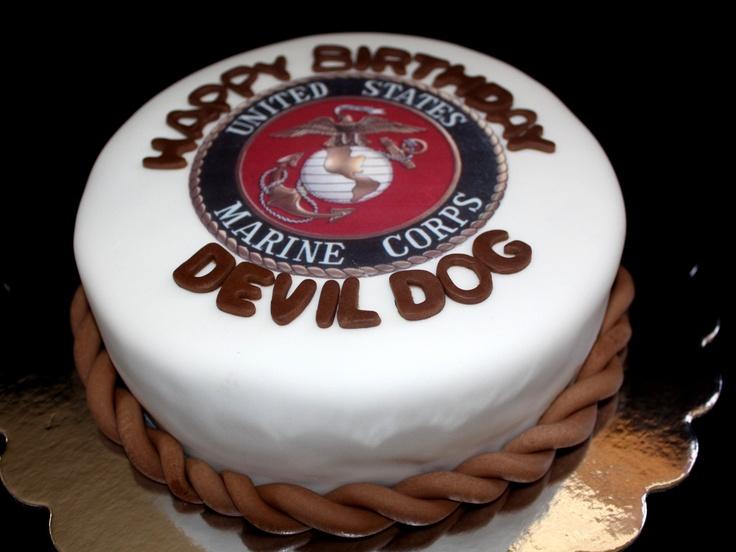 Marine Corp Cake! Ooh-Rah Devil Dog (www.jewelldcakes.com)