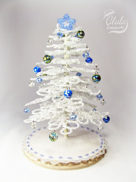 Beaded Tree U003e Miniature Christmas Tree, Tabletop Christmas Tree, Holiday  Tabletop Decor, Beaded Christmas Tree, Holiday Centerpiece / BT 005