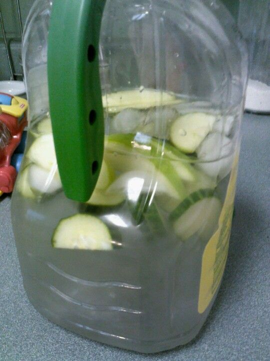 Green Apple Cucumber water. Energy booster and great for your metabolism. Drink in the morning, no coffee needed.