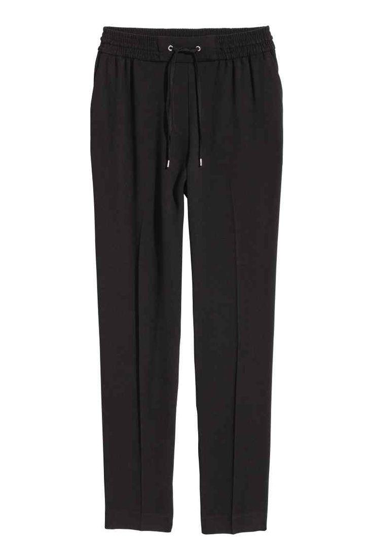 Spodnie bez zapięcia - Czarny - ONA   H&M PL