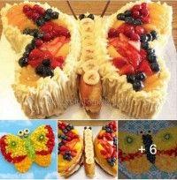 9 Mükemmel Kelebekli Meyve Sunumu!