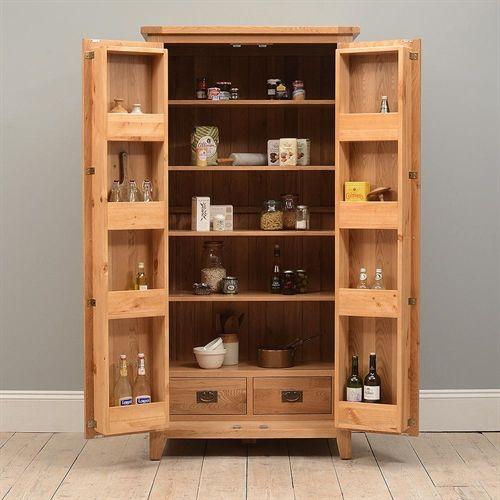 Good Montague Oak Pantry Cupboard