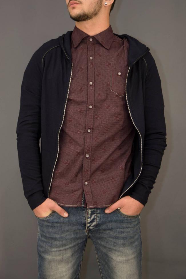 Ανδρικό πουκάμισο με ρόμβους  POUK-1654 Πουκάμισα - Άνδρας