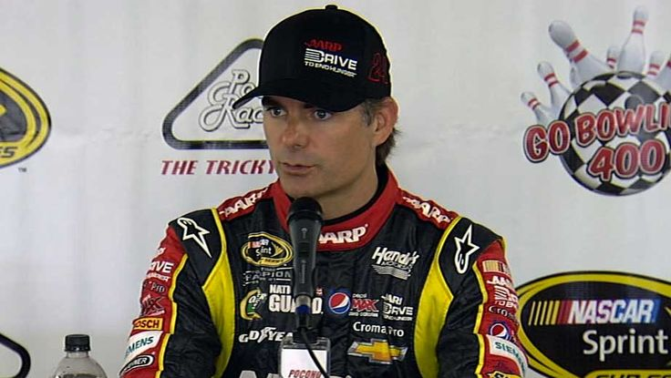 Jeff answers questions at Pocono (August 2, 2013)