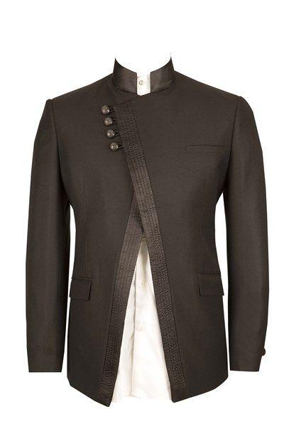 Buy online #Suits, #G-Men, Stylish #Asymmetrical #Bandgala @ pnrao.com
