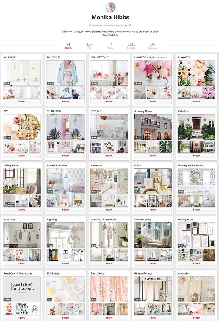 Monika Hibbs - 10 design accounts to follow on Pinterest