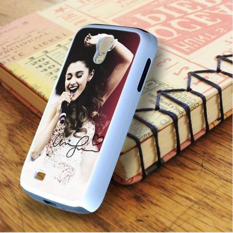 Ariana Grande Singer Red Pink Samsung Galaxy S4 Case