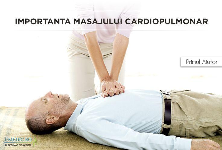 Masajul cardiopulmonar este considerat metoda de acordare a primului ajutor in cazul situatiilor de stop cardiorespirator, manifestat prin lipsa fluxului sanguin si a pulsului. Astfel, datorita lipsa sangelui si a oxigenului la nivelul creierului, persoana in cauza va deveni incapabila sa reactioneze la factorii de stimul externi - http://www.i-medic.ro/primul-ajutor/importanta-masajului-cardiopulmonar