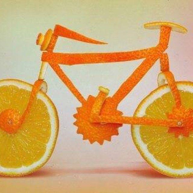 Bicicletta all'arancia