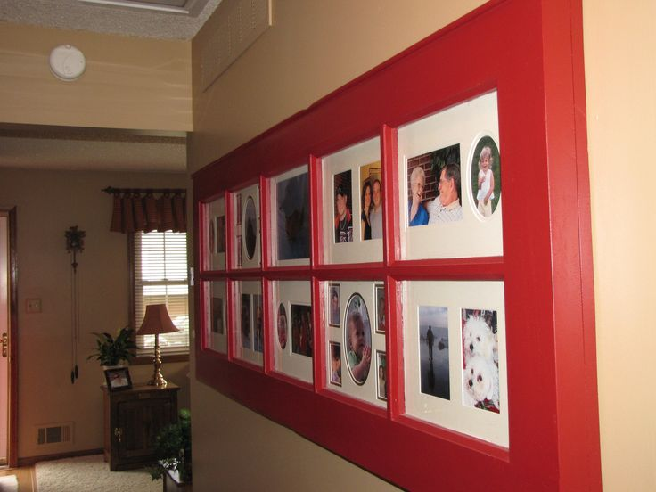 Picture frame made out of old french door diy for French door frame