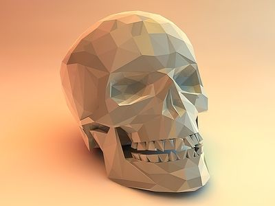 Skull Polygonal