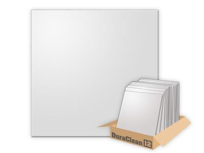 DuraClean Smooth White 2x2 Ceiling Tile (Box of 12)