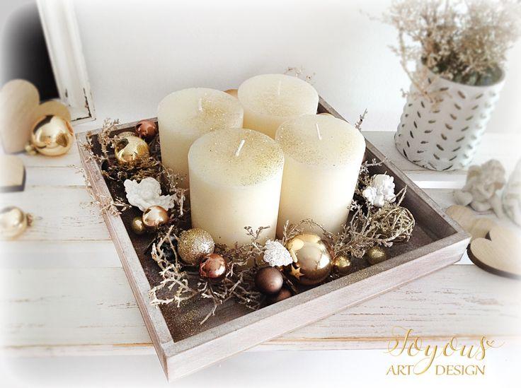 Rustikální svícen se 4 svíčkami