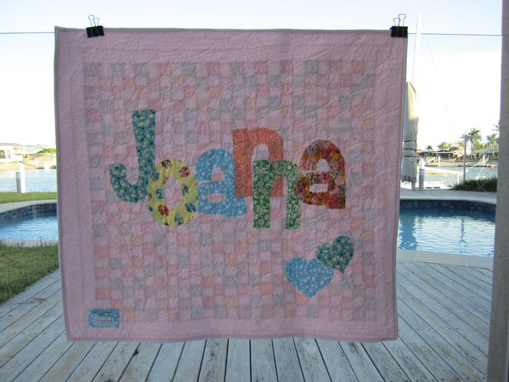 Joanna personalised quilt