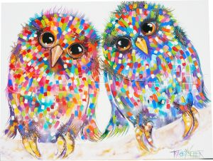 Tracey Keller Love At First Flight Painting Owl