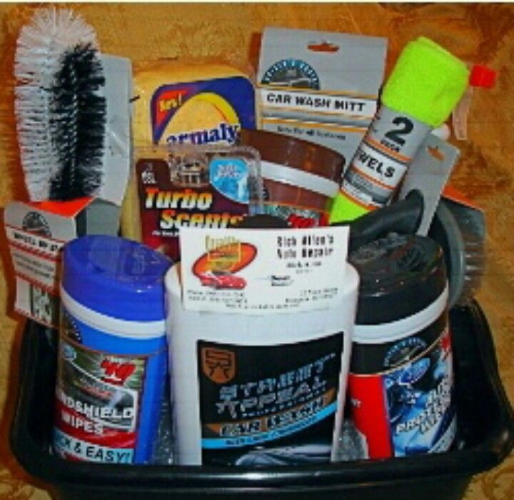 gift basket ideas auto basket car washes oil change gas
