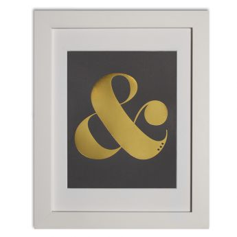 Ampersand - charcoal Papier d'Amour foiled prints range http://www.papierdamour.com.au/shop-by-category/foiled-prints.html