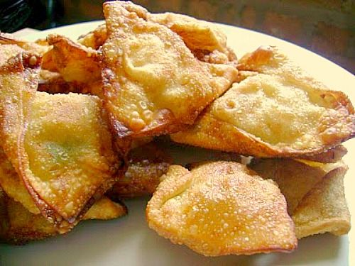 Crab rangoon - my favorite thing about getting Chinese food!