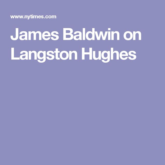 an essay on langston hughes voice of a time and people A poetry analysis my people by langston hughes by: in this essay, in relation to the symbol, i will focus on the explanation of three symbols which are night, stars it seems that hughes intends to voice both.