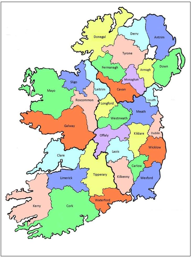 13 Best Ireland Images On Pinterest Maps And Beautiful: Irish County Maps At Slyspyder.com