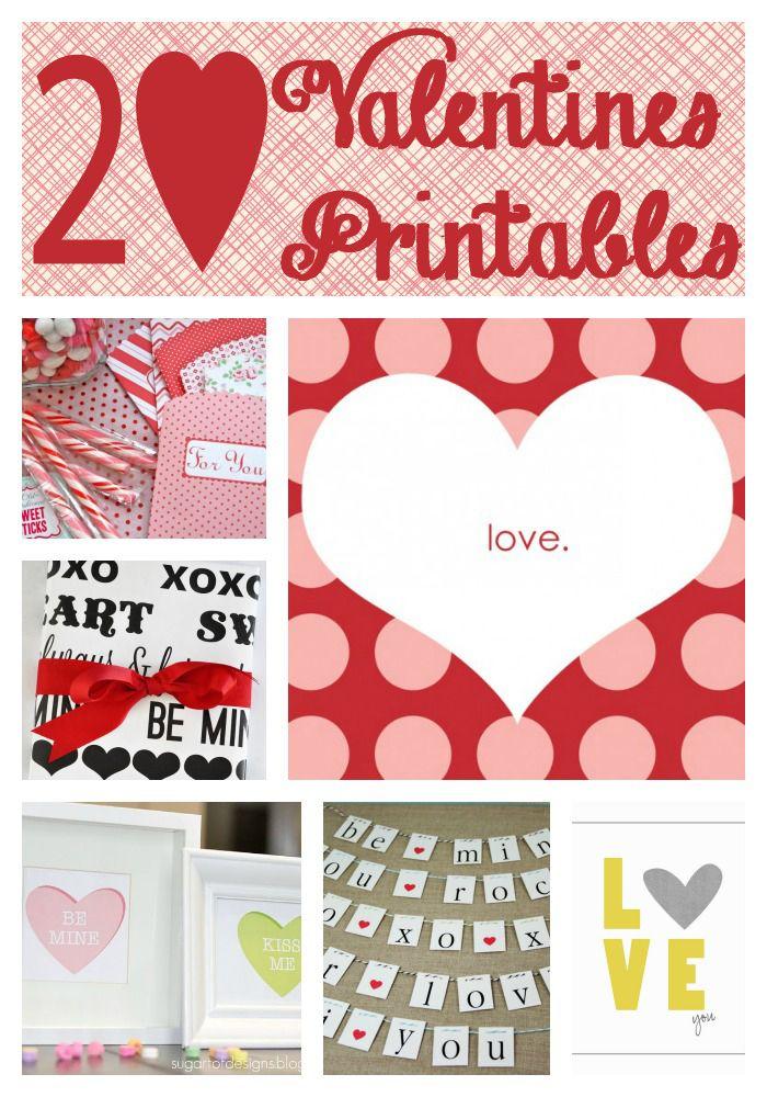 20 sweet FREE Valentine Printables on iheartnaptime.net #Valentines