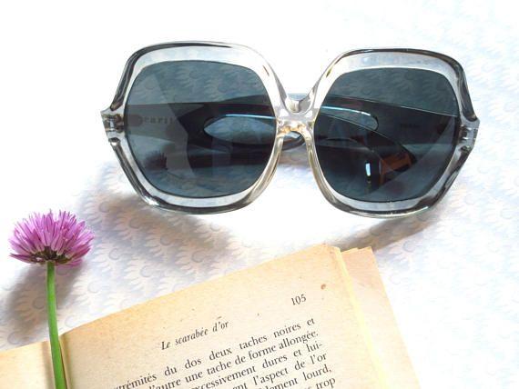 lunettes de soleil vintage 70s 80s Carita surdimensionnées oversize