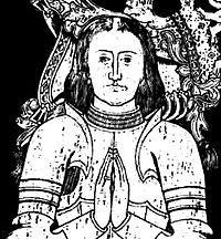 Edmund Tudor dog under rosornas krig. Far till Henrik VII och därför farfar till Henrik VIII.