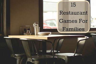 15 Restaurant Games for Families
