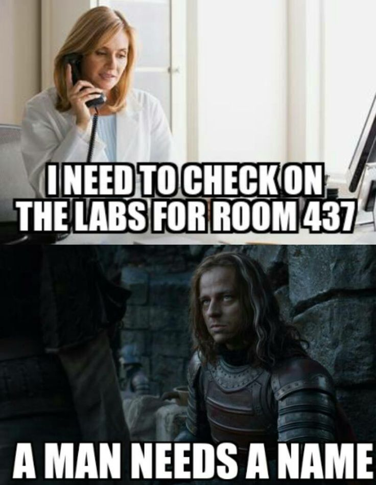 Exactly, I don't know who's in room 437!!!!!